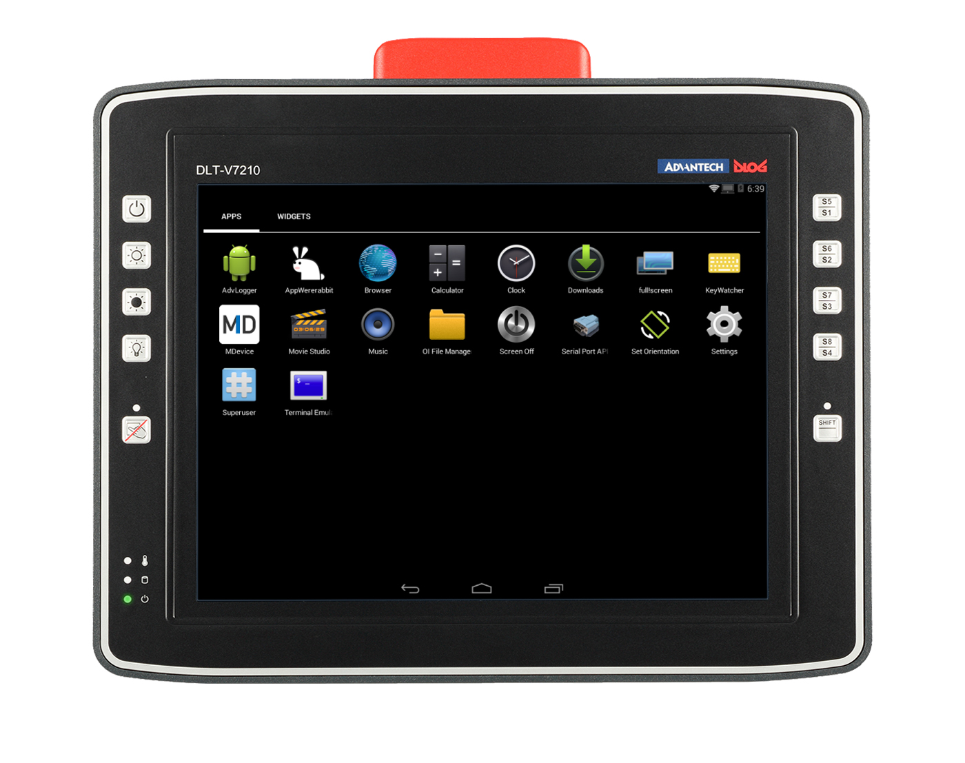 DLTV7210 frontal Android screen v3